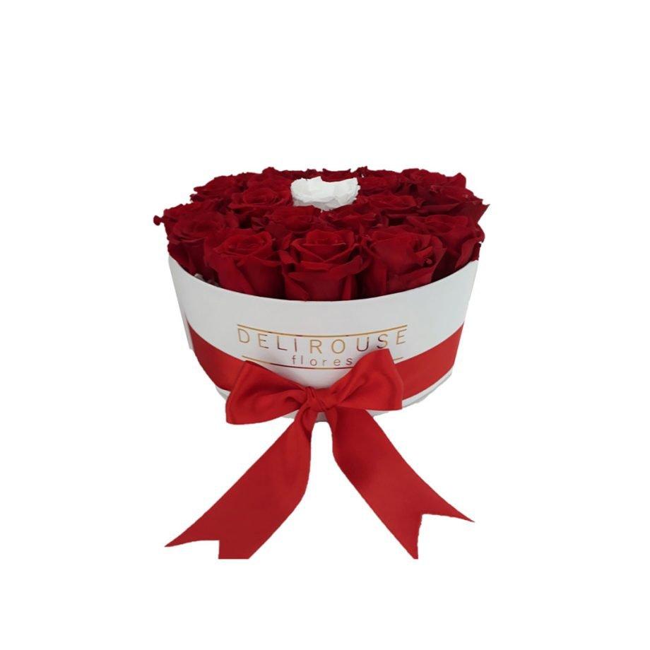 Caja Cilindrica Grande con Rosas Combinadas Preservadas 2