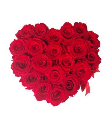 Caja Corazón Grande con Rosas Eternas
