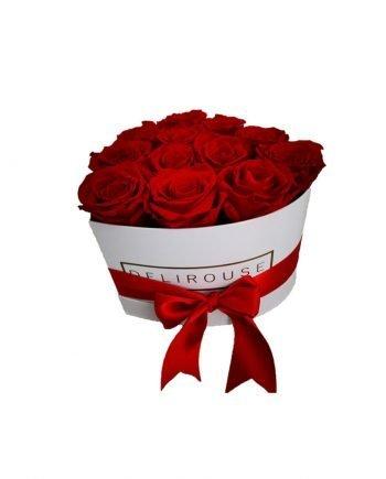 Caja Corazón Mediana con Rosas Preservadas