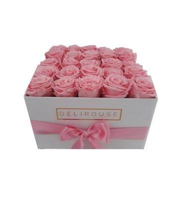 Caja Cuadrada Grande con Rosas Eternas | Rosas Naturales Preservadas en Caja Cuadrada Grande #1