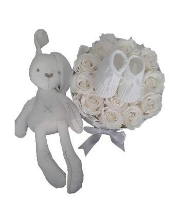 Flores Preservadas y Set de Bebé | Peluche - Delirouse #1