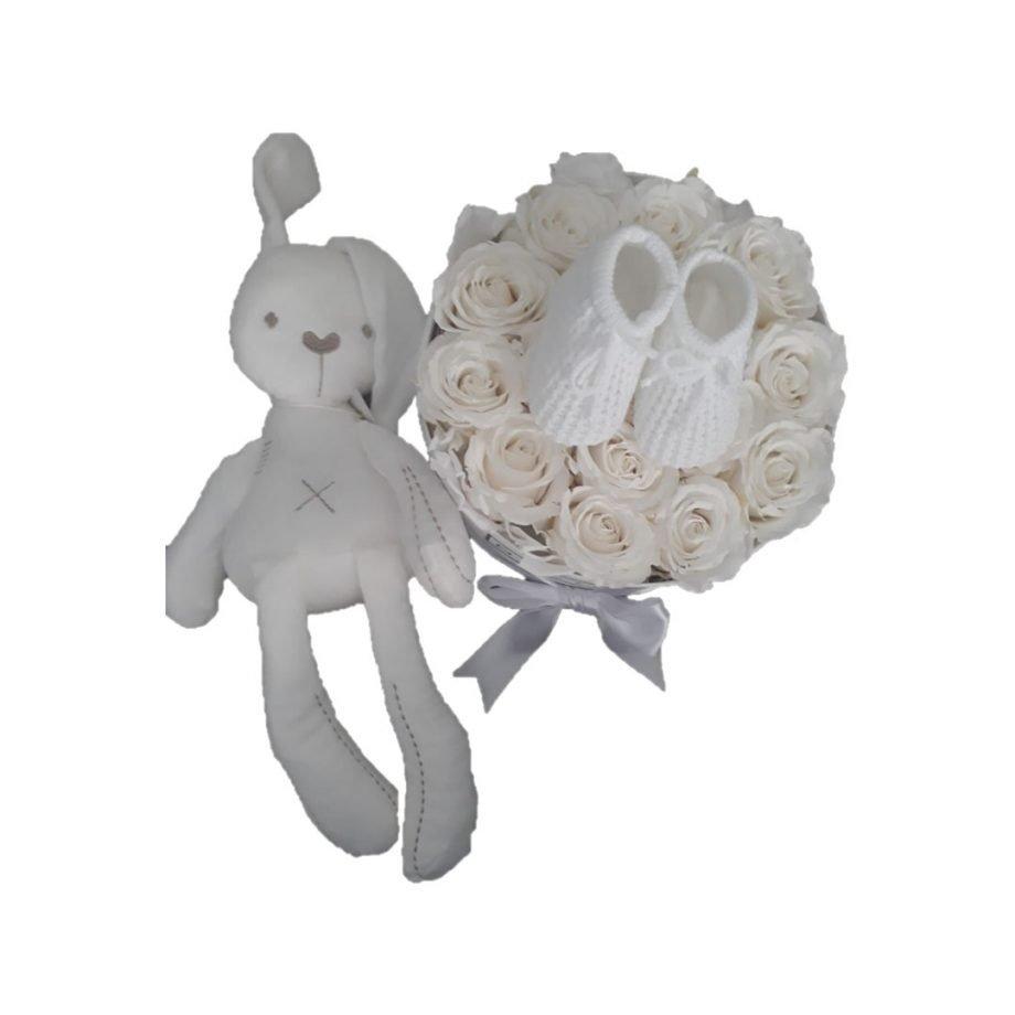 Flores Preservadas y Set de Bebé   Peluche - Delirouse #1