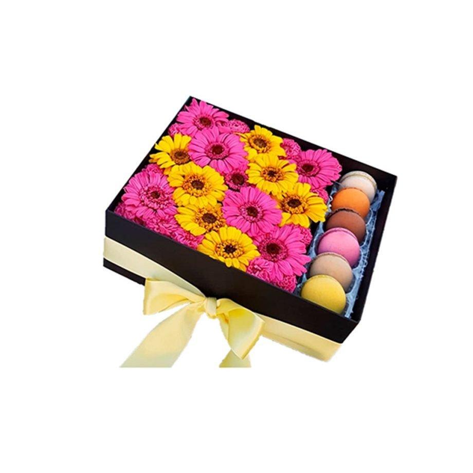 Gerberas y dalias preservadas | Caja de Flores Silvestres