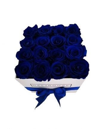 Rosas Eternas Medianas en Caja Cuadrada Mediana - Delirouse