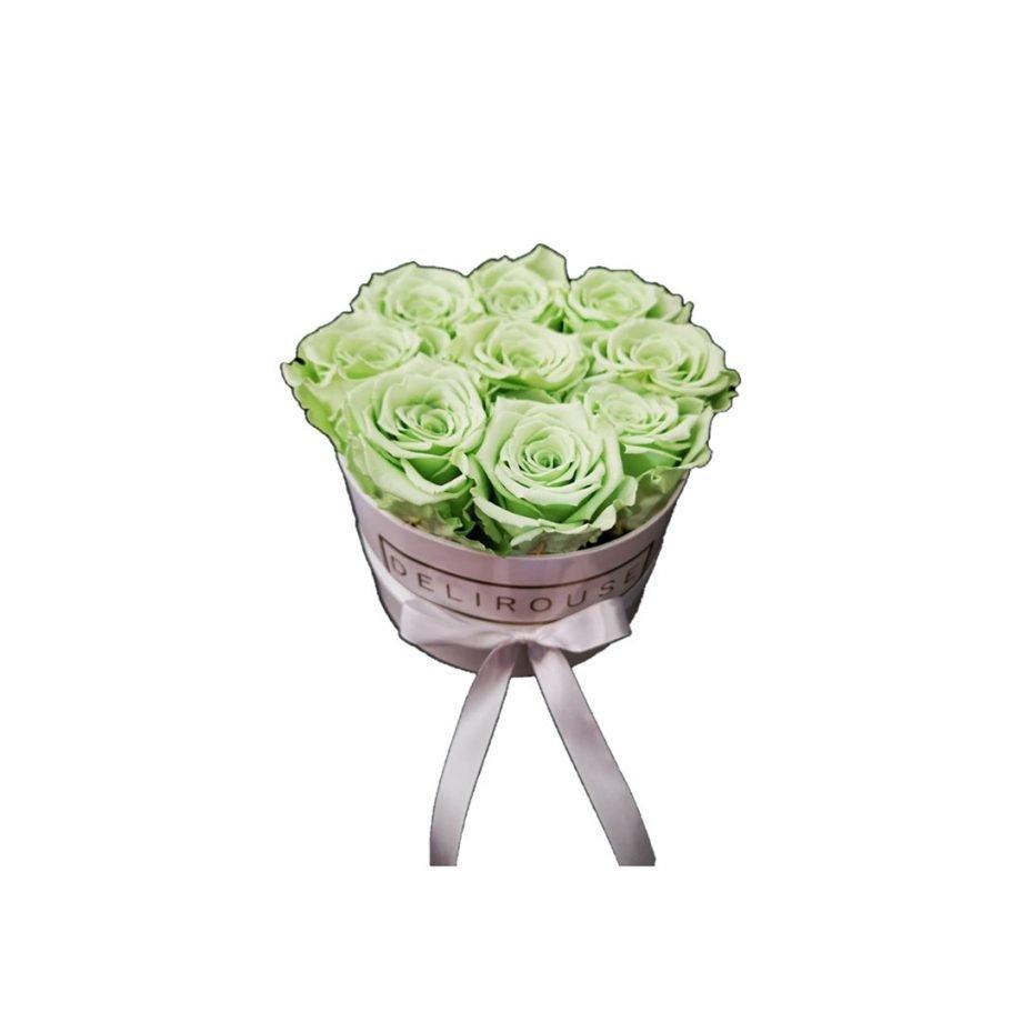 Caja Redonda Pequena con Rosas Eternas 1