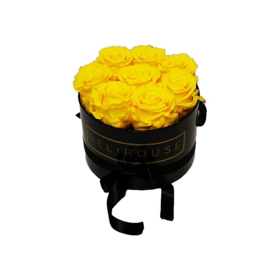 Caja Redonda Pequena con Rosas Eternas 10