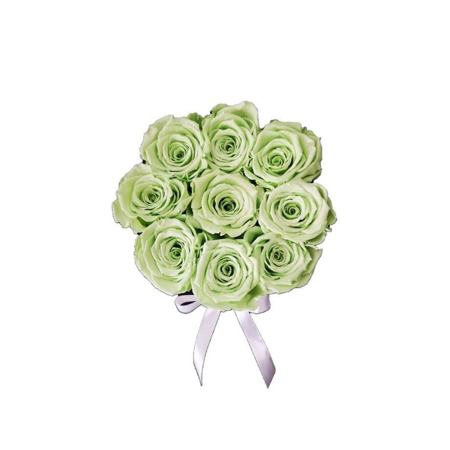 Caja Redonda Pequena con Rosas Eternas 2