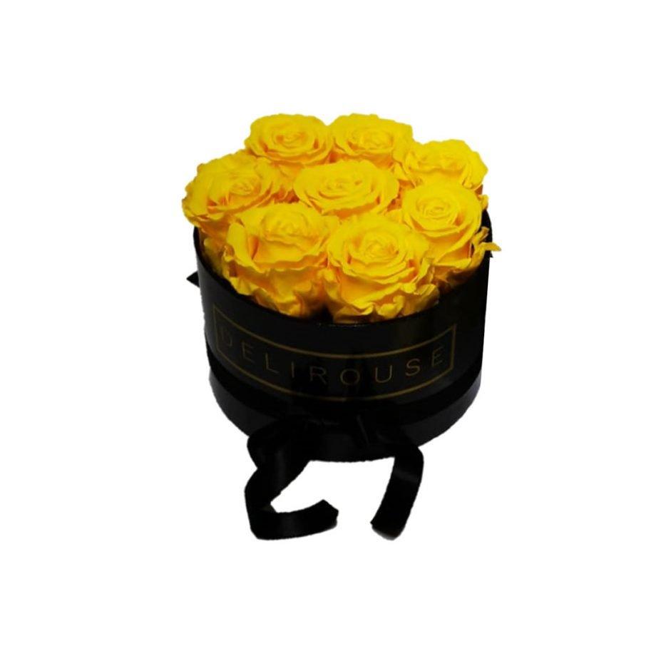 Caja Redonda Pequena con Rosas Eternas 3