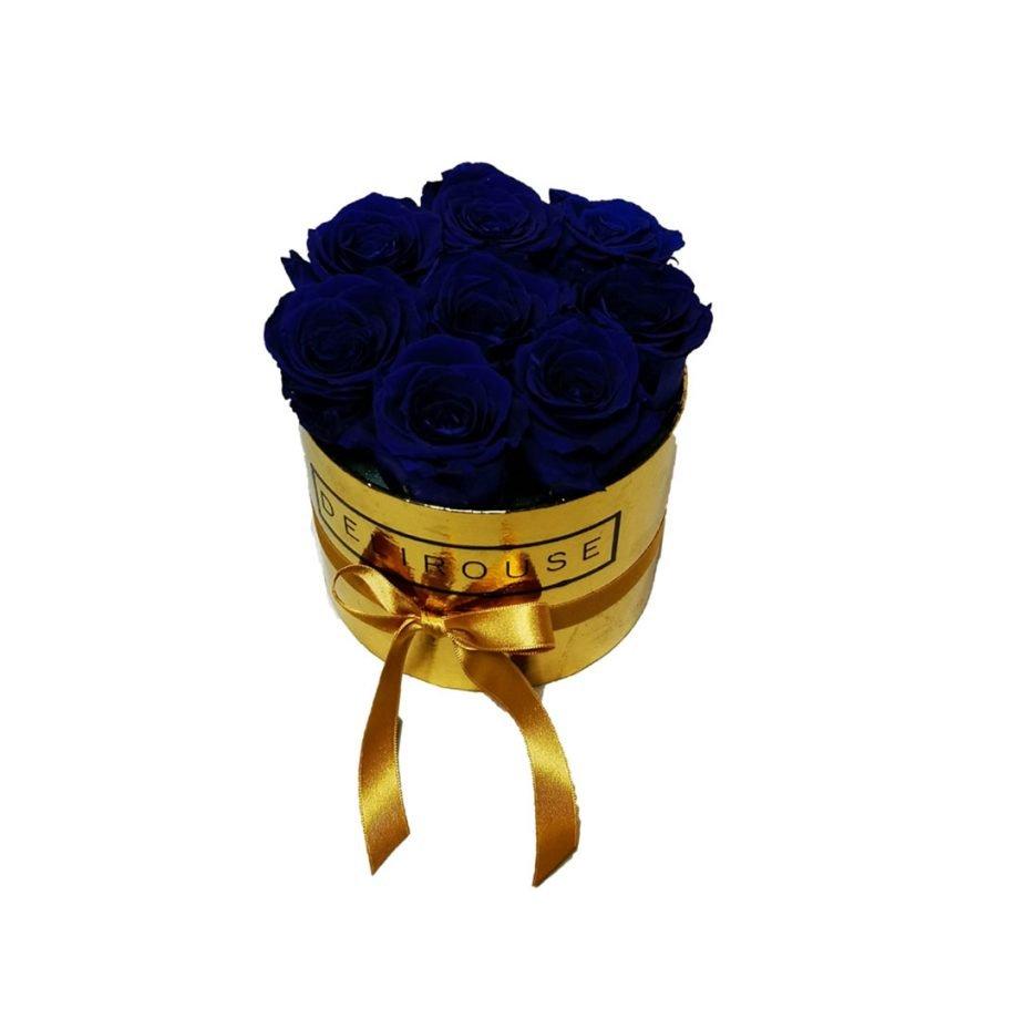 Caja Redonda Pequena con Rosas Eternas 4