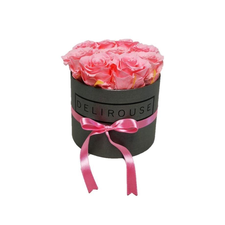 Caja Redonda Pequena con Rosas Eternas 6