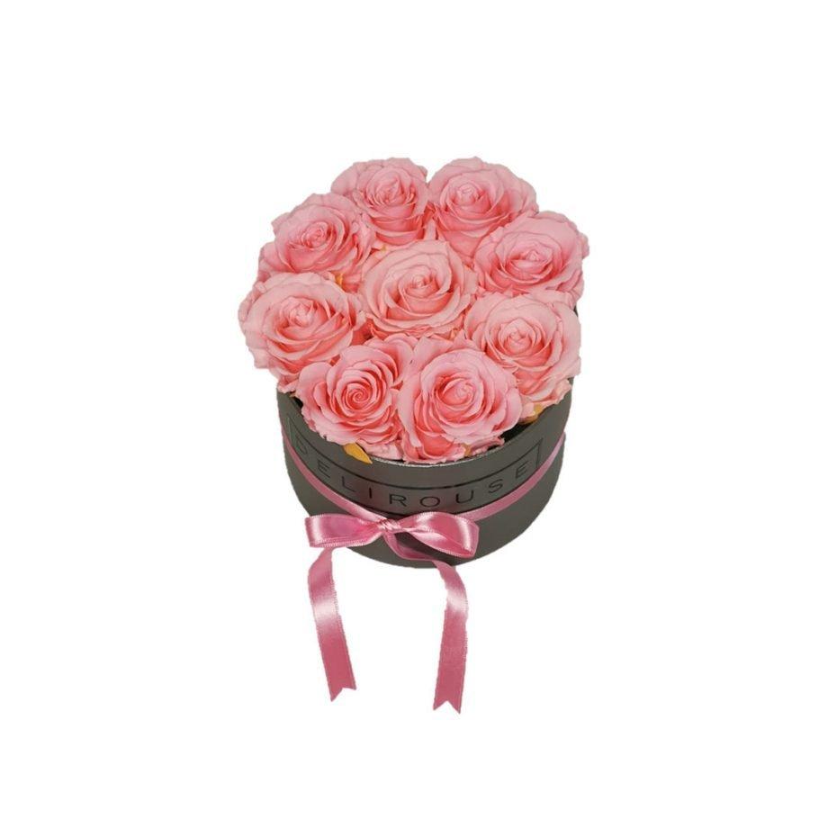 Caja Redonda Pequena con Rosas Eternas 7