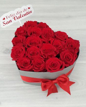 Caja Corazón Grande de Rosas con Mensaje Personalizado