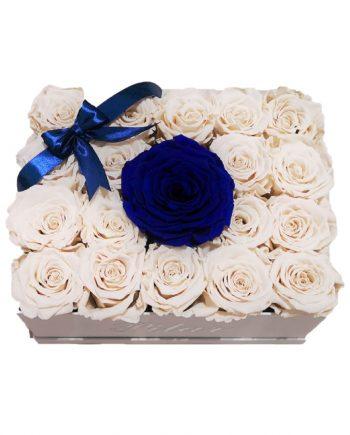 Rosas Eternas - Caja Personalizada con Rosas Eternas Combinadas