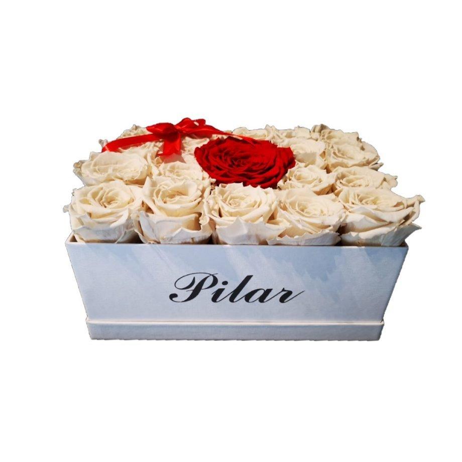 Rosas Eternas Caja Personalizada con Rosas Eternas Combinadas 3