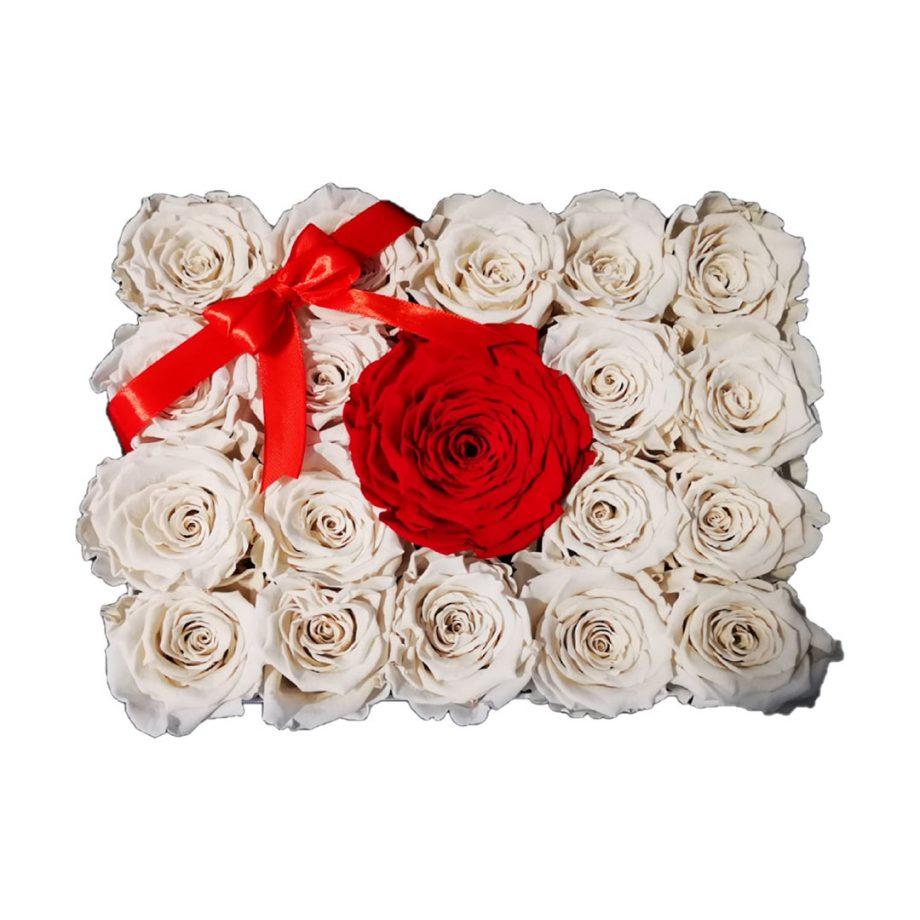 Rosas Eternas Caja Personalizada con Rosas Eternas Combinadas 4