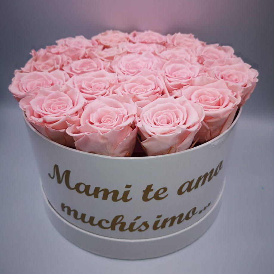 Caja Grande con Mensaje para Mama de Rosas Eternas 1