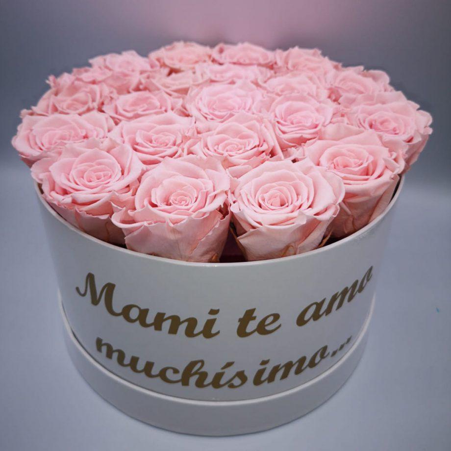 Caja Grande con Mensaje para Mamá de Rosas Eternas