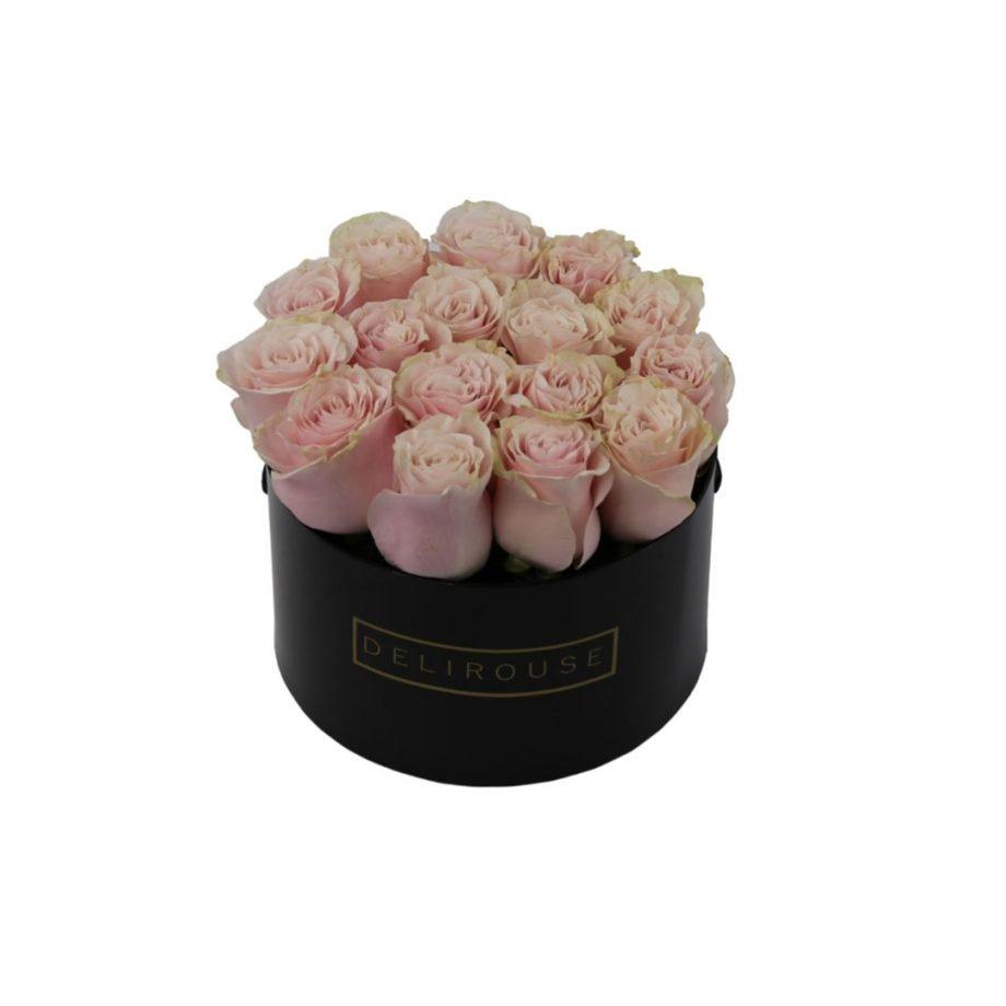 Caja Cilíndrica Mediana de Rosas