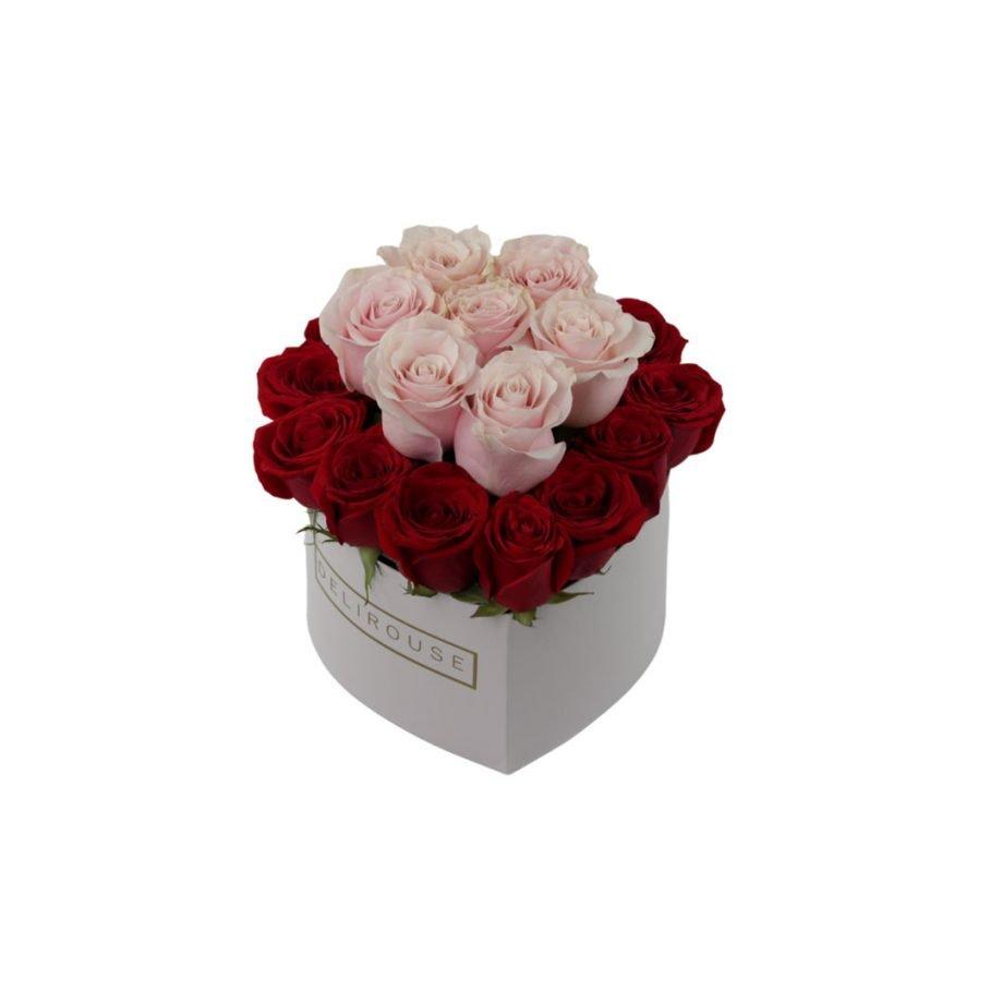 Caja Corazón Grande con Rosas 2 Niveles 1