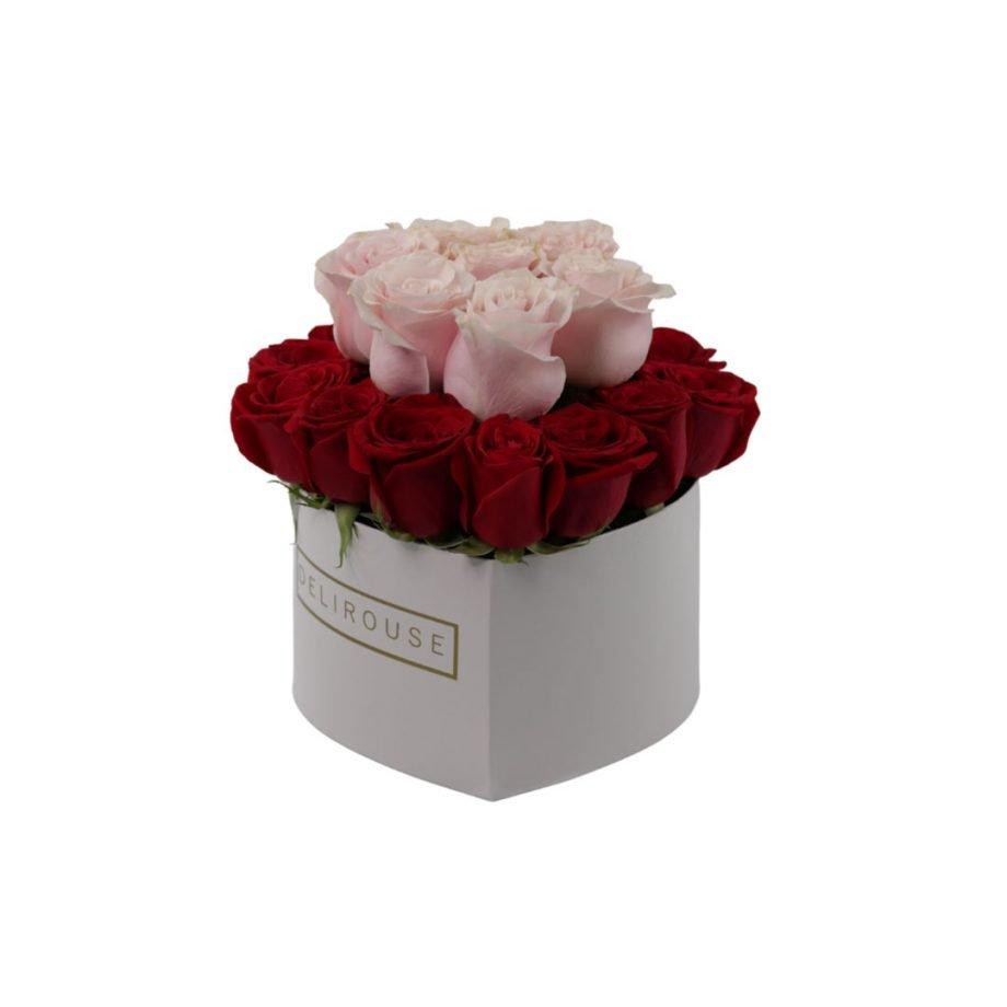 Caja Corazon Grande con Rosas 2 Niveles 2