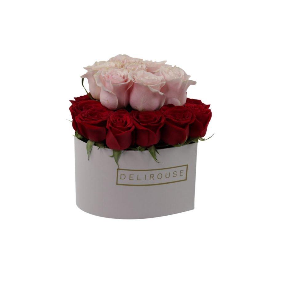 Caja Corazon Grande con Rosas 2 Niveles 3