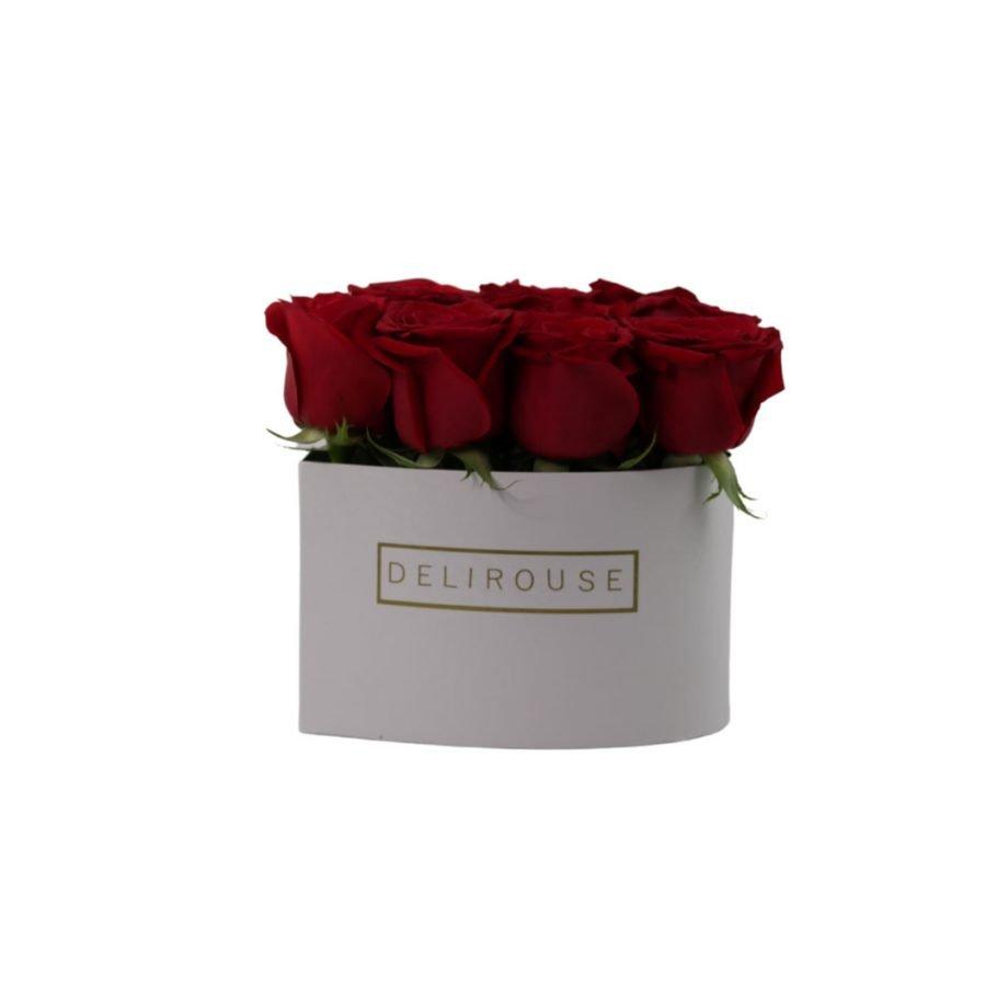 Caja Corazón Mediana con Rosas 4