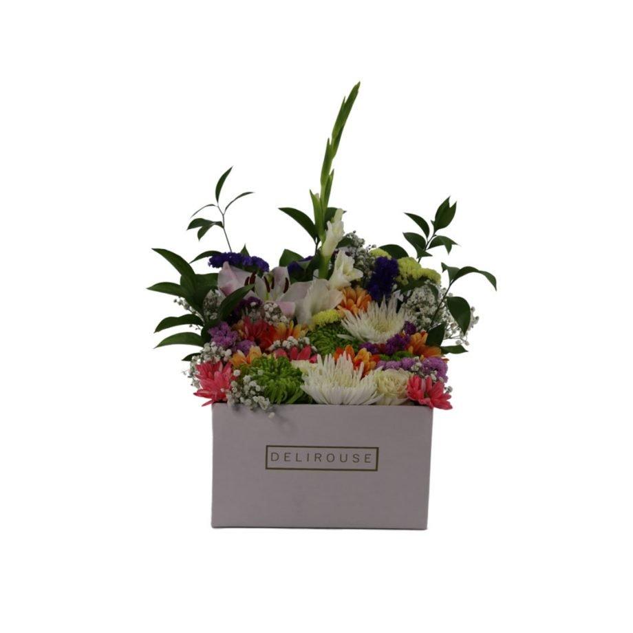 Caja Grande Cuadrada de Flores Silvestres