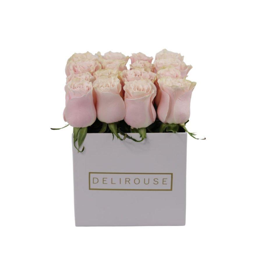 Caja Mediana de Rosas Rosadas