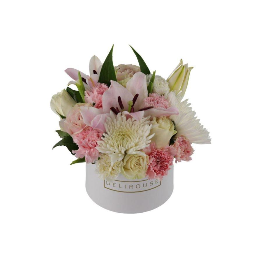 Caja Pequena con Flores de Temporada 4