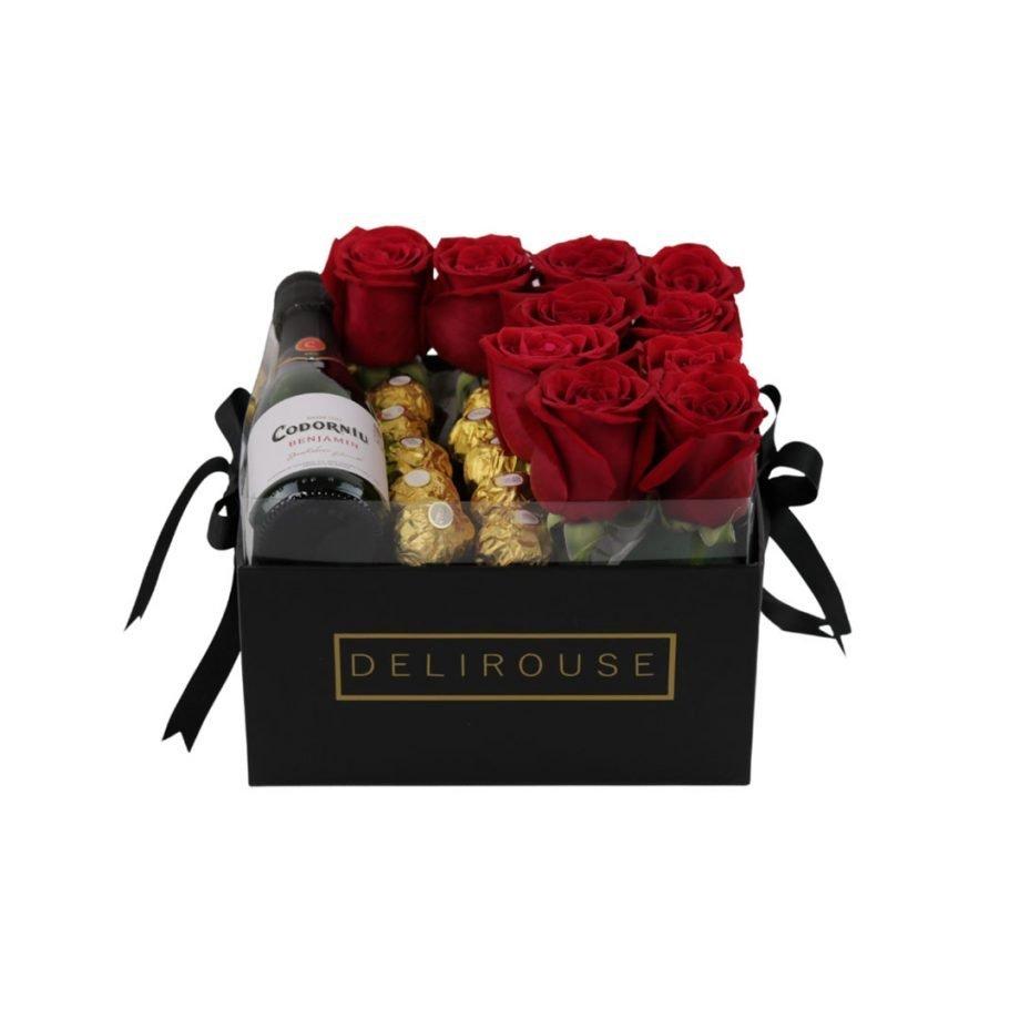 Caja Pandora con Rosas y Complementos