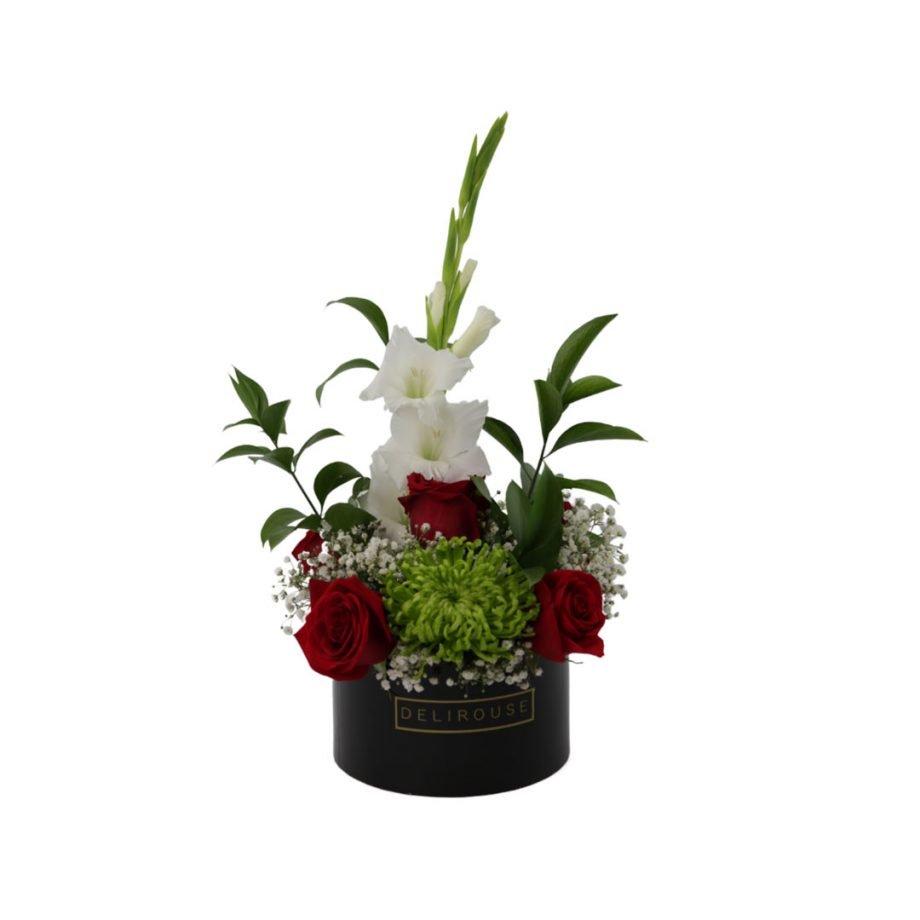 Caja Pequeña con Flores Silvestres y Rosas 3